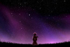 stars, Aurorae, Night, Scarf