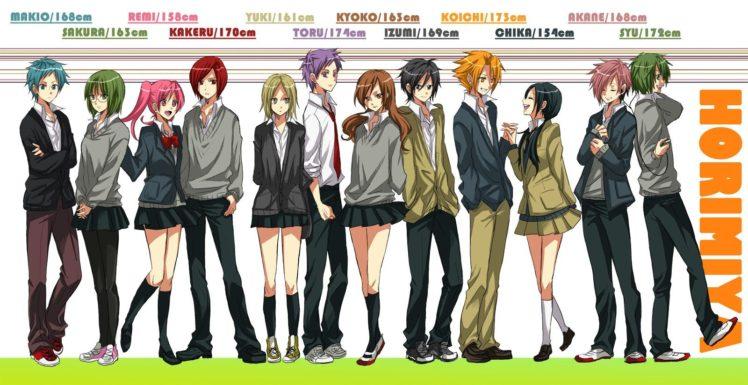 Horimiya, Hori Kyouko, Yoshikawa Yuki, Ishikawa Toru, Miyamura Izumi, Hori san to Miyamura kun HD Wallpaper Desktop Background