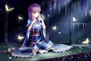 Japanese clothes, Saigyouji Yuyuko, Touhou, Butterfly