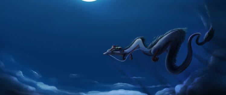 Chihiro, Anime, Dragon HD Wallpaper Desktop Background