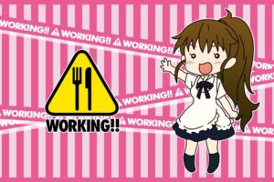 Working!!, Anime girls, Taneshima Popura