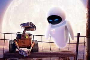 Disney, Disney Pixar, WALL·E, Eva, Moon, Robot