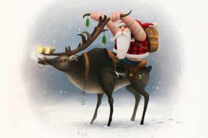 Santa Claus, Santa, Biker
