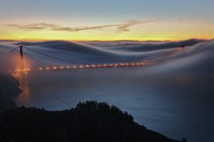 cityscape, Bridge, Mist, Golden Gate Bridge, San Francisco, USA