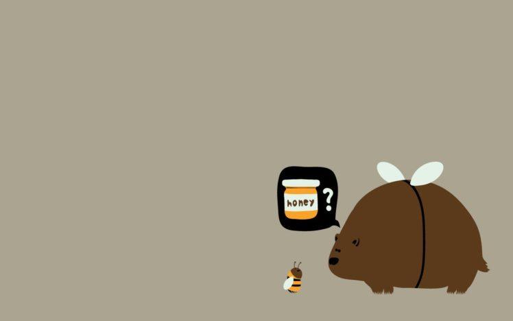 bees, Bears, Honey, Brown HD Wallpaper Desktop Background