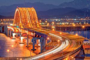 city, Cityscape, Bridge, Night