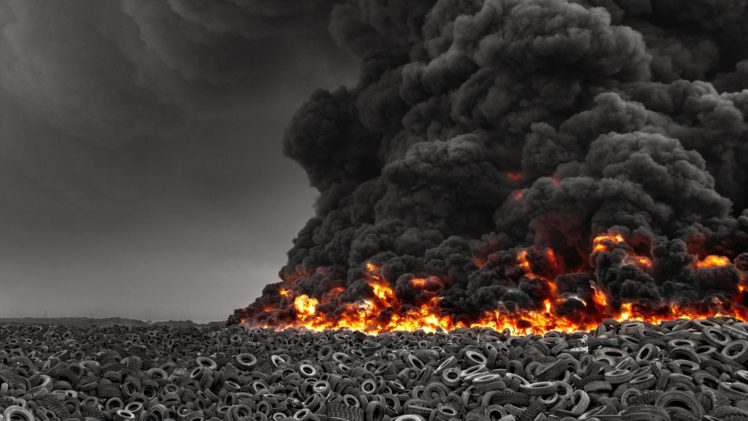 Tires Fire Smoke Black Hd Wallpapers Desktop And Mobile Images Photos