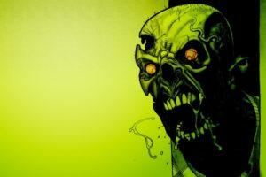 zombies, Green, Minimalism
