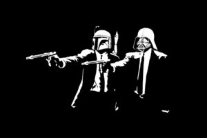 black, Darth Vader, Dark, Gun, Pulp Fiction (parody)