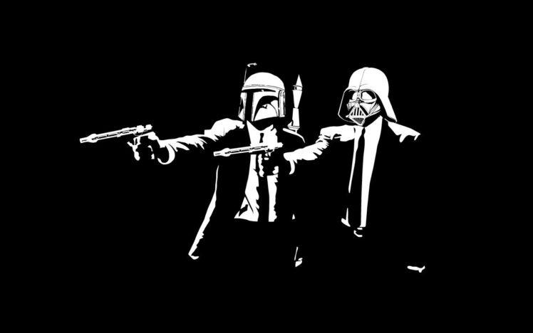 black, Darth Vader, Dark, Gun, Pulp Fiction (parody) HD Wallpaper Desktop Background