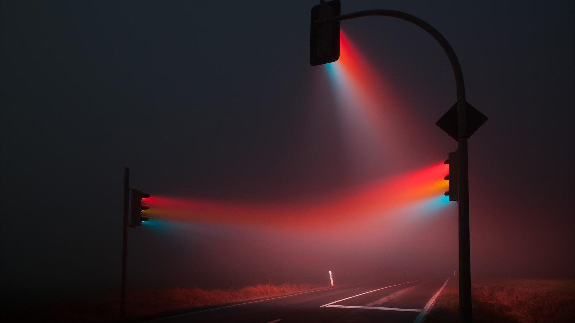 traffic, Lights, Mist, Photo manipulation, Photography HD ...