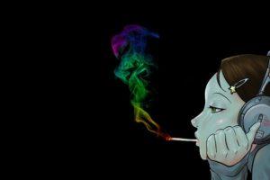 black, Smoking