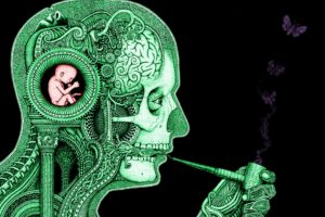 clockwork, Baby, Science, Smoking, Butterfly, Skull, Gears