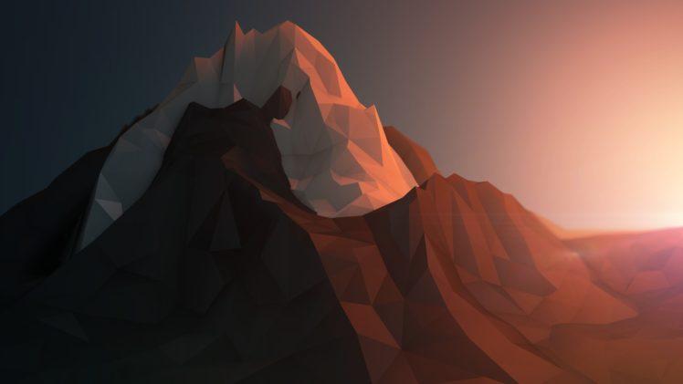 anime, Low poly HD Wallpaper Desktop Background