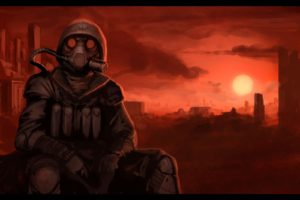 apocalyptic, Gas masks, Gone with the Blast Wave