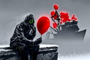apocalyptic, Gas masks, Romantically Apocalyptic, Vitaly S Alexius, Balloons