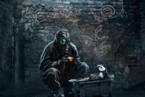 apocalyptic, Gas masks, Romantically Apocalyptic, Vitaly S Alexius