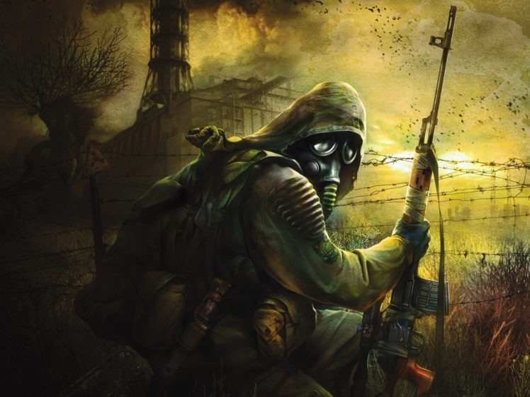 Apocalyptic Gas Masks Ukraine HD Wallpaper Desktop Background