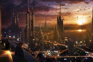 cityscape, City, Futuristic