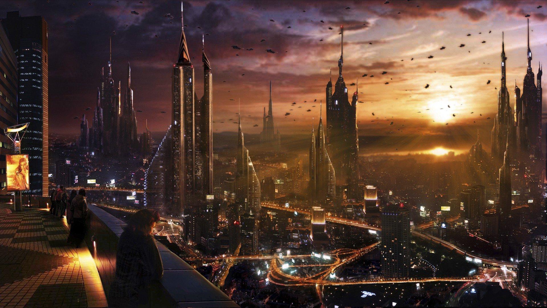 cityscape, City, Futuristic Wallpaper