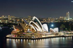 cityscape, Sydney, Sydney Opera House, Night, Australia