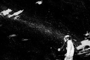 monochrome, Manga, Stars
