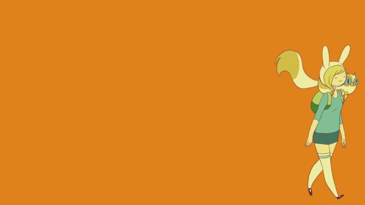 Minimalism Orange Adventure Time Hd Wallpapers Desktop