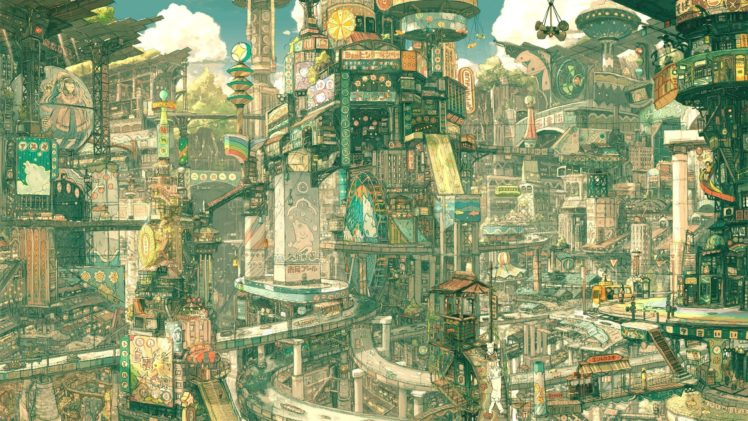 Drawing City Futuristic Imperial Boy Hd Wallpapers