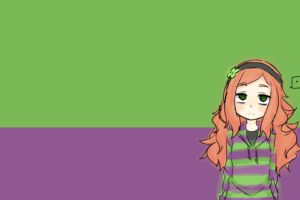 Vivian James, Green, Purple, Redhead