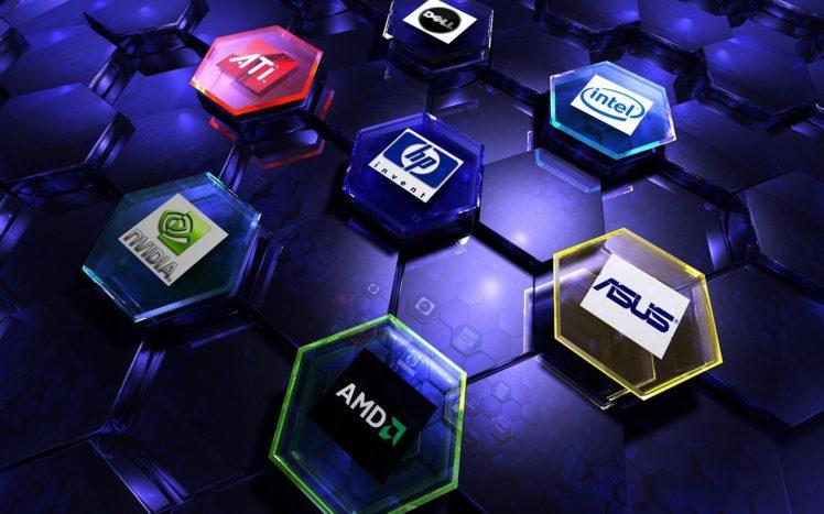 AMD, Nvidia, Intel, ASUS HD Wallpaper Desktop Background