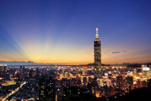 anime, Building, Lights, Cityscape, Taipei 101, Taipei, Thailand