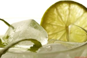drink, Cocktails, Ice cubes, Limes