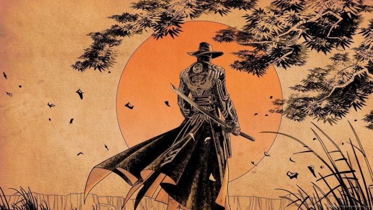 samurai, Cowboys HD Wallpaper Desktop Background