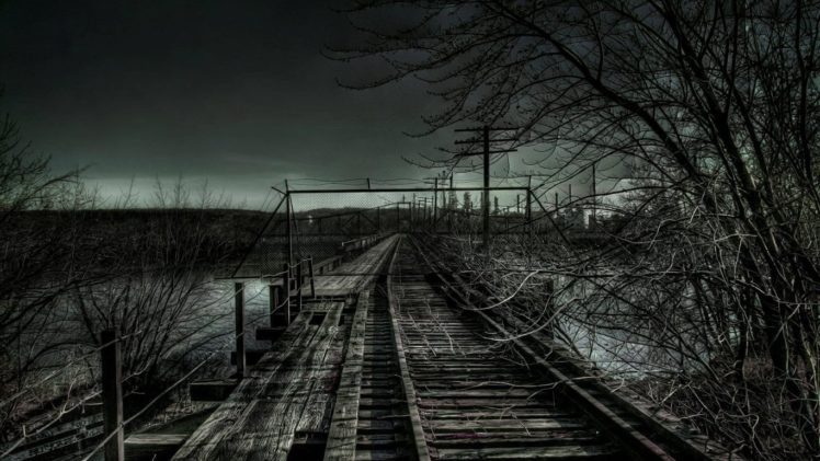 railway, Dark HD Wallpaper Desktop Background