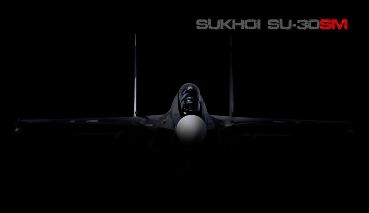 Black Airplane Sukhoi Su 30 HD Wallpaper Desktop Background