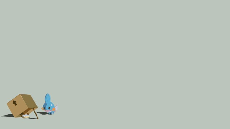 Mudkip, Minimalism HD Wallpaper Desktop Background