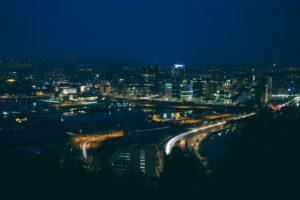 Oslo, Norway, Barcode, Cityscape