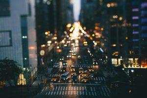 city, Bokeh, Road, Traffic, Tilt shift