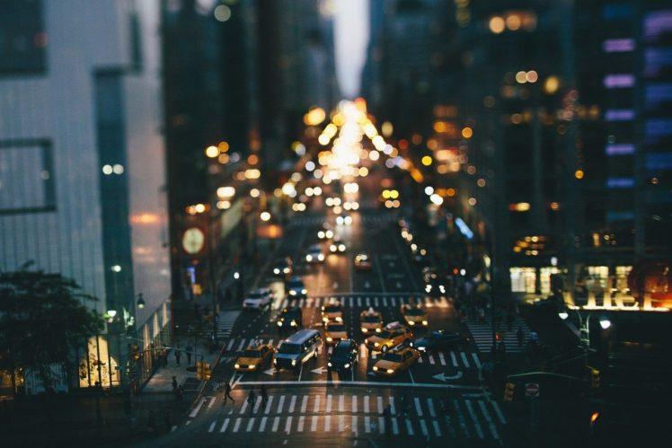 city, Bokeh, Road, Traffic, Tilt shift HD Wallpaper Desktop Background