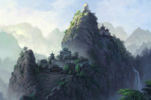 mountain, Temple