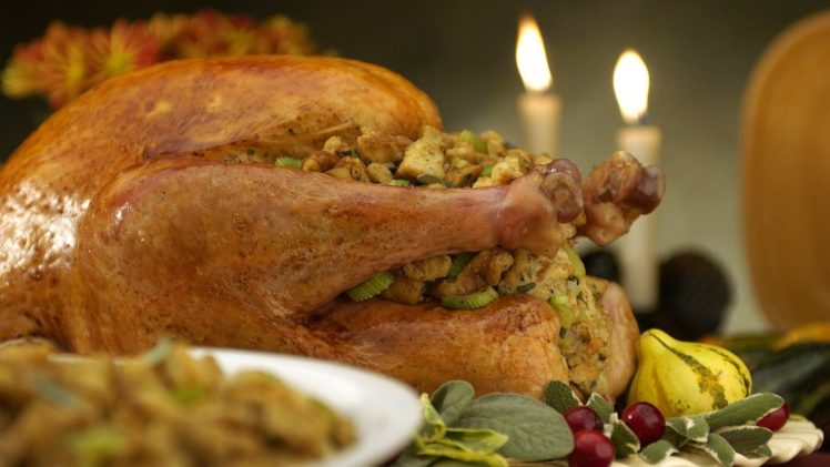 food, Meat, Thanksgiving, Turkeys, Candles HD Wallpaper Desktop Background
