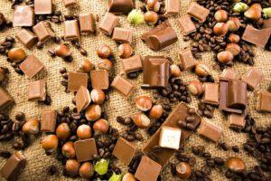 food, Chocolate, Desserts, Nuts