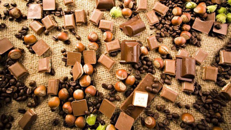 food, Chocolate, Desserts, Nuts HD Wallpaper Desktop Background