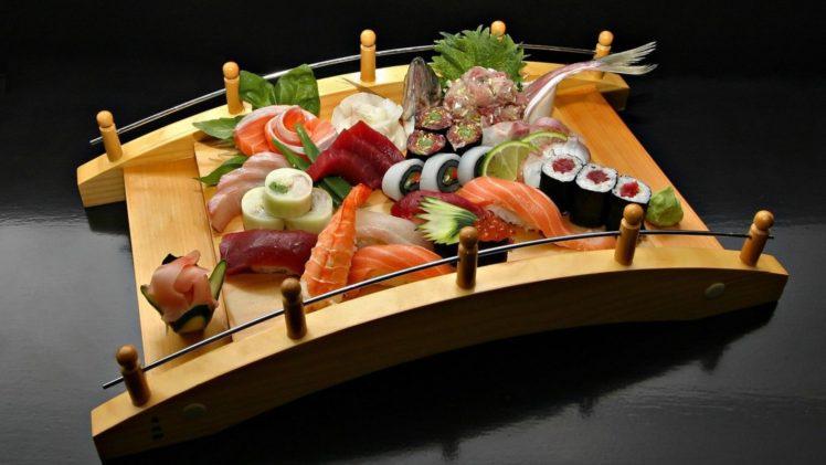 food, Sushi, Shrimp HD Wallpaper Desktop Background