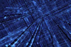 technology, Blue, Grid, Digital Blasphemy