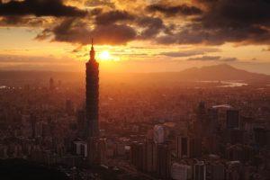 city, Cityscape, Sunlight, Skyscraper, Taiwan, Taipei, Taipei 101