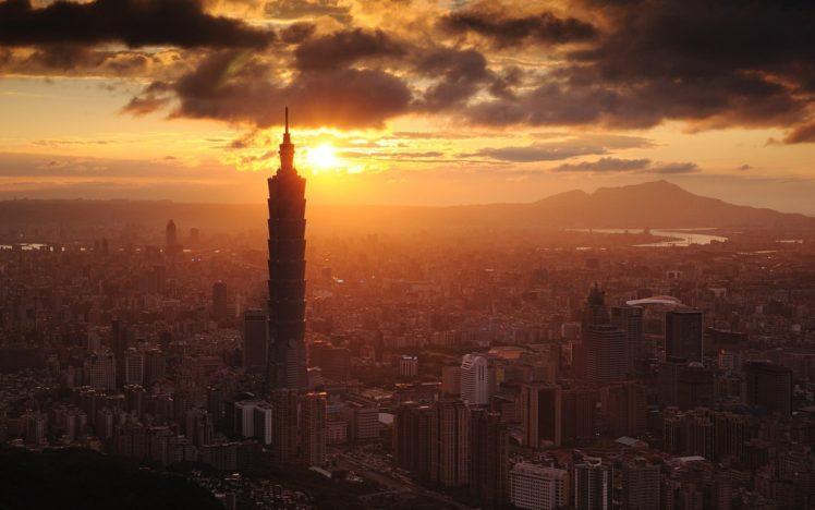 city, Cityscape, Sunlight, Skyscraper, Taiwan, Taipei, Taipei 101 HD Wallpaper Desktop Background