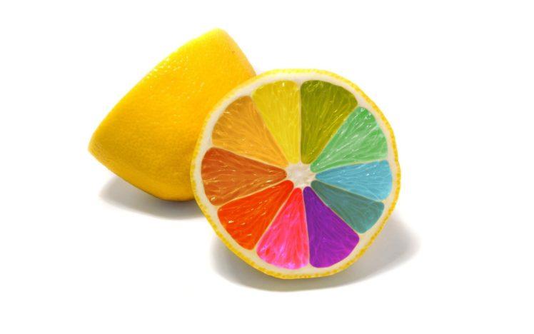 colorful, Food, Simple background, Minimalism, Lemons HD Wallpaper Desktop Background
