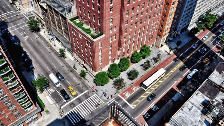 cityscape, Building, Road, Balconies, Intersections, Top view, Apartments HD Wallpaper Desktop Background