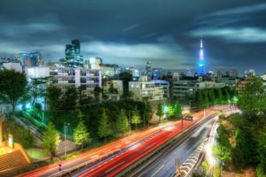 cityscape, Building, Road, Lights, Tokyo, HDR